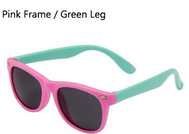 gafas sol flexibles Verde ni os Gafas sol Ni Hykis Rosa os de os TR90 con de polarizadas Gafas seguridad de Sombras sol ni Gafas los Recubrimiento de UV400 TPEE Pierna wF55qtA