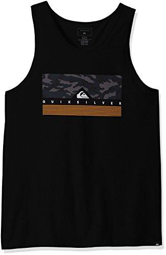 Quiksilver Men's Jungle Box Tank T-Shirt, Black, Small