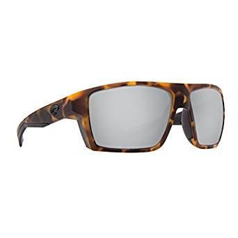 Costa Del Mar Bloke Sunglasses Matte Retro Tort/Black/Copper Silver Mirror 580Plastic ()