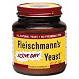 Fleischmann's Active Dry Yeast, 4 Ounce Jar (Pack of 12)