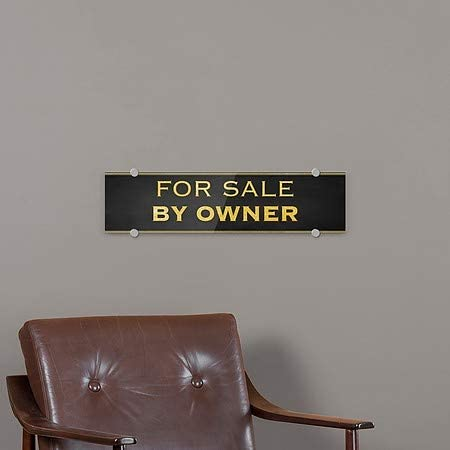 Classic Gold Premium Brushed Aluminum Sign for Sale by Owner CGSignLab 5-Pack 24x6