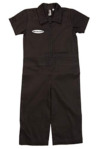 Born to Love Knuckleheads - Infant and Baby Boy Grease Monkey Coveralls Black 4T