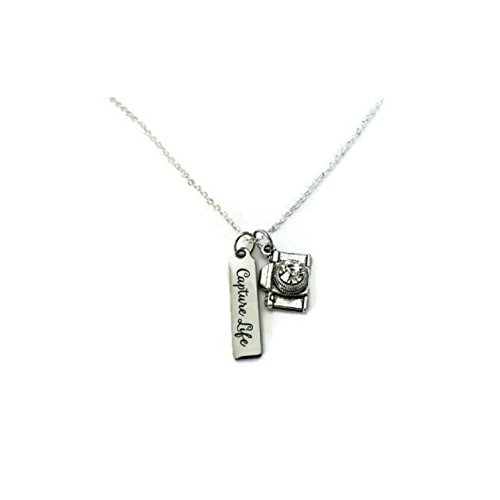 f75fb0c1a07de Combo of Silvertone with Black Camera Style Pendant Necklace and Matching  Earring...