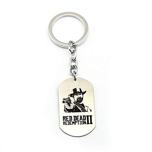 Value-Smart-Toys - New Game Red Dead Redemption 2 Keychain Metal Key Rings Dog Tags Gun Logo Toy For Men Car Women Gift Jewelry Souvenir Chaveiro (Red Dead Redemption Best Rifle)