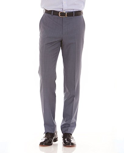 The Savile Row Company Savile Row Men's Blue Grey Tailored Business Dress Pant 34'' 32'' by The Savile Row Company (Image #3)