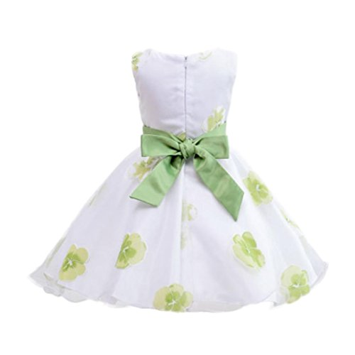 Moonker Gils Dress,Toddler Baby Girls Tutu Princess Flowers Print Bow Sleeveless Clothes Dresss for 1-6 Years Old (5-6 Years Old, -