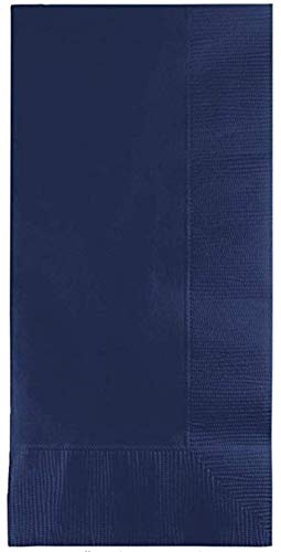 100 Navy Dinner Napkins for Wedding, Party, Bridal or Baby Shower, Disposable Bulk Supply Quality Product (Navy)