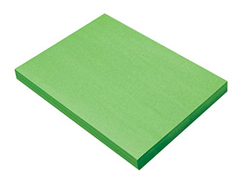 SunWorks Heavyweight Construction Paper, 9 x 12 Inches, Bright Green, 100 Sheets