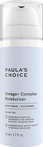 Paula's Choice Omega+ Complex Lightweight Face Moisturizer, Shea Butter & Plant Oils, Brightening Vitamin C - For Dry & Sensitive Skin