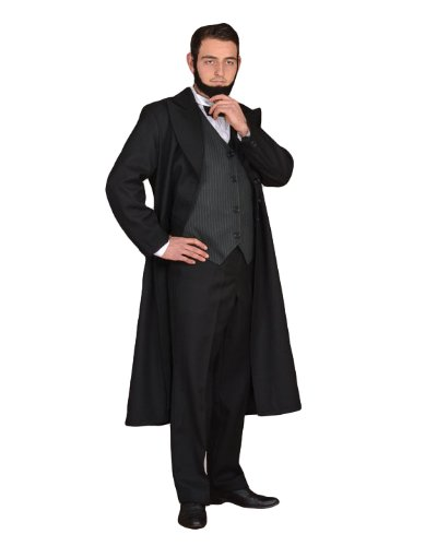 Victorian Men's Costumes: Mad Hatter, Rhet Butler, Willy Wonka  Mens President Abraham Lincoln Civil War Era Costume  AT vintagedancer.com
