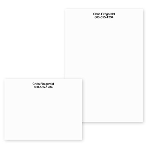 Solid White Classic Personalized Post-it Notes - 4