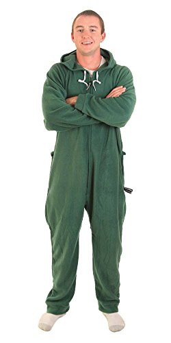 Forever Lazy Adult Onesie - Robin Hoodie Green - XS