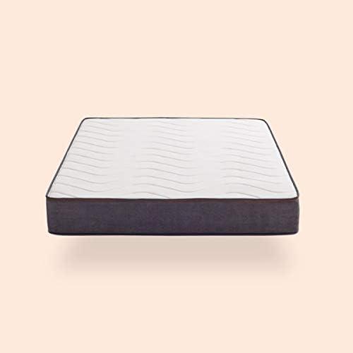 KHAMA | Colchón Essential Basic | Colchón de viscoelástica y muelles ensacados | Firmeza 8/10 | 28% Más Transpirable I Ni una Vuelta más