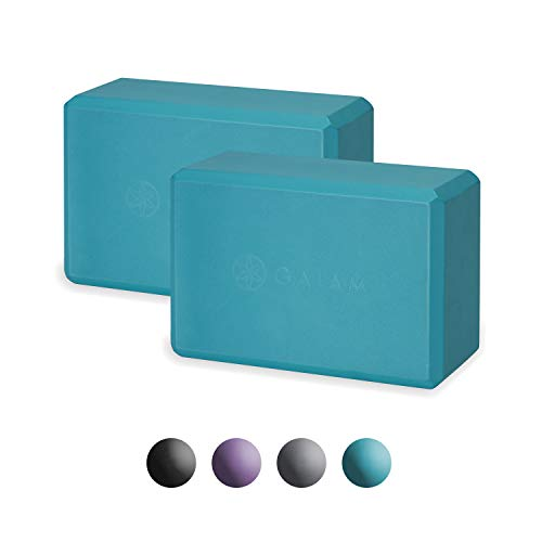 Gaiam Essentials Yoga Block (Set of 2) - Supportive Latex-Free EVA Foam Soft Non-Slip Surface for Yoga
