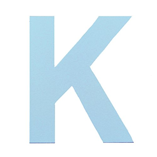 aspire 3D Wooden Hanging Wall Letters Alphabet Wall Home Office Party Decoration-Blue Letter K-6 Inch