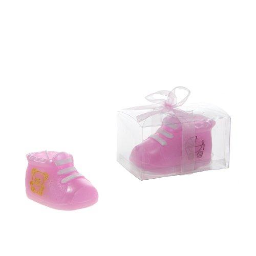 "Lunaura Baby Keepsake - Set of 12""Girl"" Baby Bottie Candle - Pink"