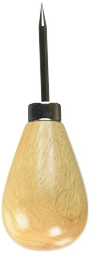 Dritz 44106 Awl with Large Knob Wood Handle