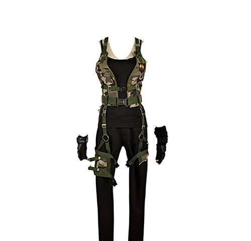 Cos-Love Resident Evil Cosplay Alice Women Costume Halloween Adult Dress Up Full Set Army Green