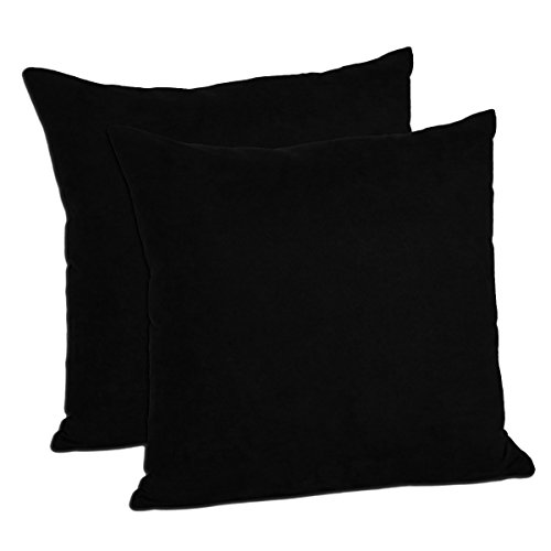 Multiple Colors (Set of 2) - Faux Suede Decorative Pillow Covers (18