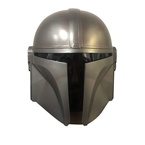 Emowpe Mascara Completa de latex de Halloween, mascara mandaloriana Casco de Cosplay Star Wars para Fiesta de Disfraces Carnaval Halloween Humano