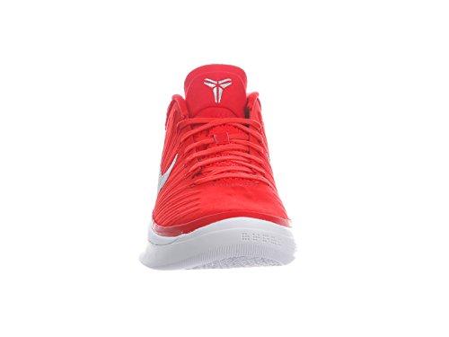 Nike Mens Kobe Ad Nylon Scarpe Da Basket Università Rosso / Argento Metallizzato / Bianco