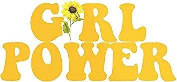 MR3Graphics Magnet Girl Power Yellow Magnetic Car Sticker Decal Bumper Magnet Vinyl ()