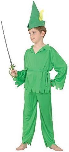 Bristol Novelty CC515 Traje Peter Pan Robin Hood, Mediano, 122-134 ...