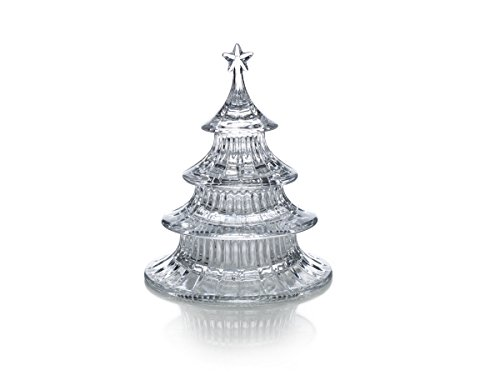 Treat Dish Christmas (Celebrations by Mikasa Holiday Treats Crystal Stacking Tree Candy Dish, 8.5-Inch)