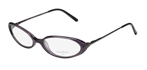 Vera Wang Curve For Ladies/Young Women/Girls Cat Eye Full-Rim Shape Flexible Hinges Hip & Chic Rare Made In Japan Eyeglasses/Eyeglass Frame (52-16-125, Purple/Mauve) (Cats Eye Brille)