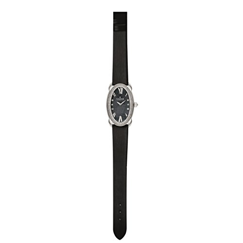 Charmex Tuscany 6262 28x42.5mm Stainless Steel Case Black Calfskin Synthetic Sapphire Women's Watch