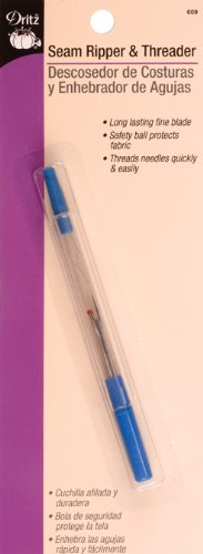 Large with Ergonomic Design and Safety Cap Dritz 5111 Seam Ripper