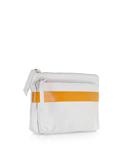 S32wf0026sx8354100 Mm6 Arancione Maison Pochette bianco Donna Pelle Margiela wqR8CR
