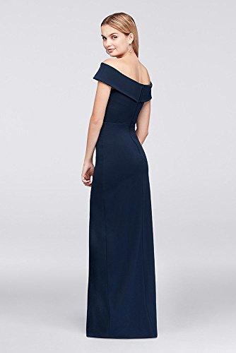 David\'s Bridal Off-The-Shoulder Scuba Crepe Sheath Prom Dress Style ...