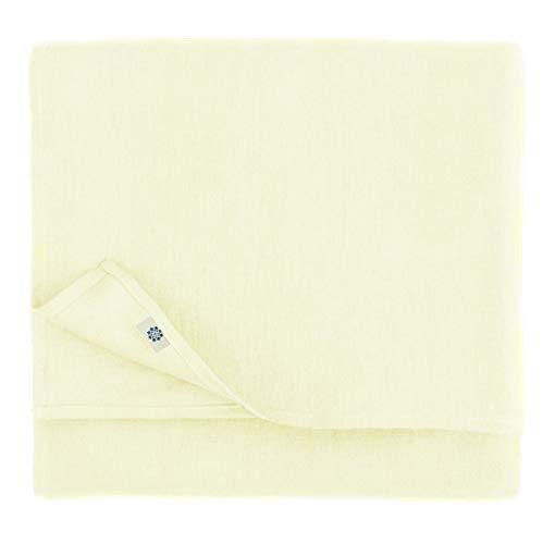 Linen & Cotton Mantel de Mesa de Centro Pano de Mesa Decoracion de Comedor Hygge - 100% Lino, Crudo Blanco (100 x 100 cm) Cubierta de Mesa Cuadrada Pequena para Cocina Cena Navidad