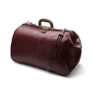 SageBrown Leather Medium Gladstone Holdall – Dark Tan – L48xH30xD23cm
