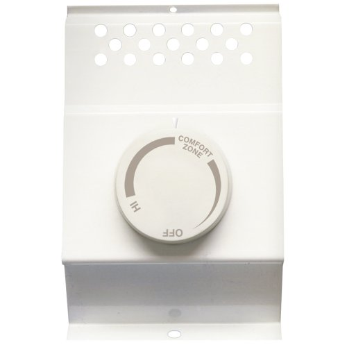 (Cadet 8734 White Double Pole Built In Baseboard Thermostat,)