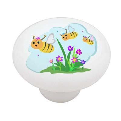 Spring Bumble Bees Ceramic Drawer Knob