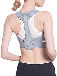 Posture Corrector for Women and Men Breathable, Fully Adjustable Upper Back Brace Straightener Posture Correct