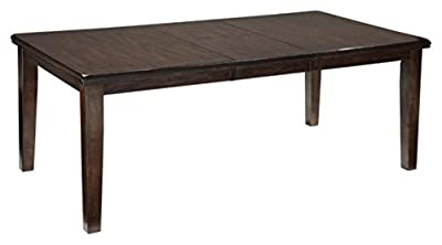 Ashley Furniture Signature Design - Haddigan Dining Room - Self-Storing Butterfly Leaf - Dark Brown Finish