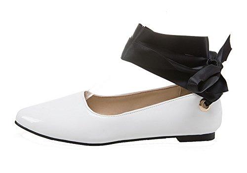 Lacet Femme Agoolar Talon L Pu Non Cuir Couleur Chaussures Rond Unie w511xOqp4