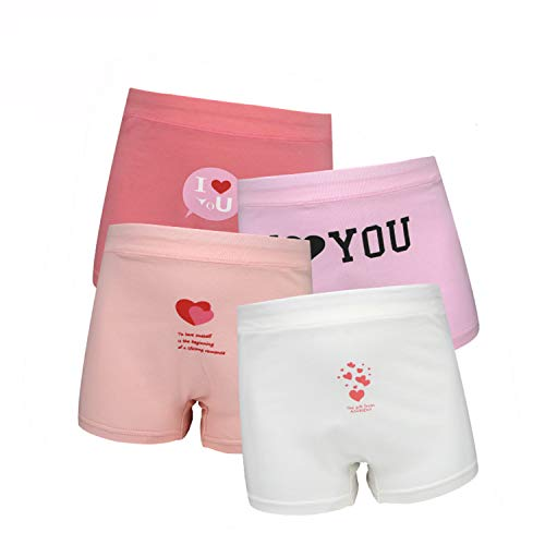 SIVICE Young Girls Panties Girls Underwear Panty Models Love Heart Style Pack of 4 (S) by SIVICE (Image #6)