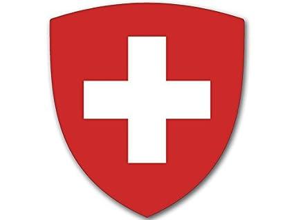 Amazoncom American Vinyl Switzerland Crest Shield Shaped Sticker