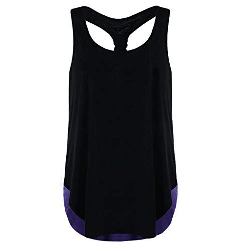 New Summer Tops for Women Women Lace Splice Tank Tops Ruched Sleeveless T-Shirts Ladies Blouse Vest Tunique Femme Purple XXL