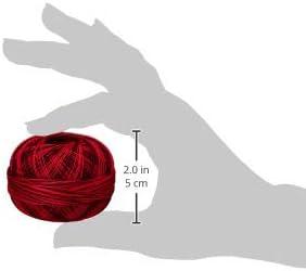 Size 40 Red Burst Handy Hands Lizbeth Premium Cotton Thread