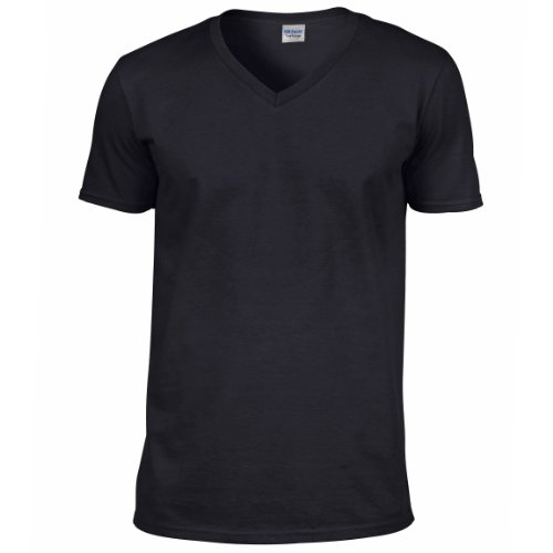 Gildan Mens Soft Style V-Neck Short Sleeve T-Shirt