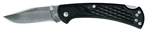 Buck Knives 0112BKS1 Ranger Slim Select Folding Lockback Pocket Knife with Thumb Studs & Removable/Reversible Deep Carry Pocket Clip, Nylon Handles, 420HC Blade, Black
