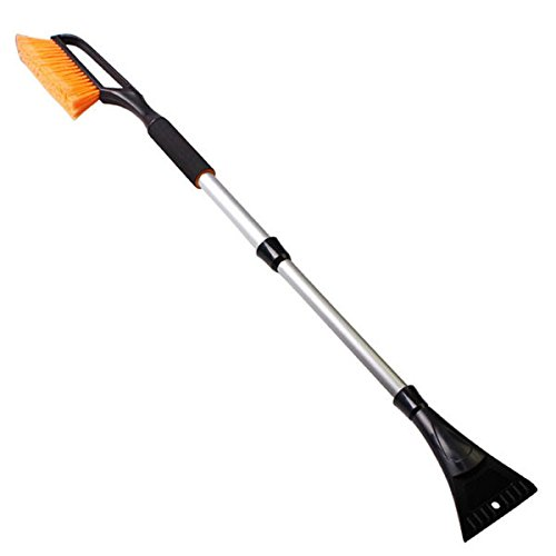 Toolcool 102cm Multifunction Retractable Snow Brush with Ice Scraper Garden Car Snow Removaling Shovel Tool