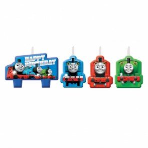 Thomas All Aboard Birthday Candle Set Birthday Party Supplies (Train Cake Decorations Thomas)