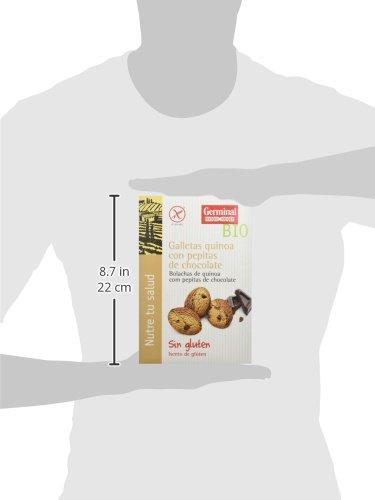 Germinal Galletas Sin Gluten de Quínoa con Pepitas de Chocolate - Paquete de 8 x 250 gr - Total: 2000 gr: Amazon.es: Alimentación y bebidas