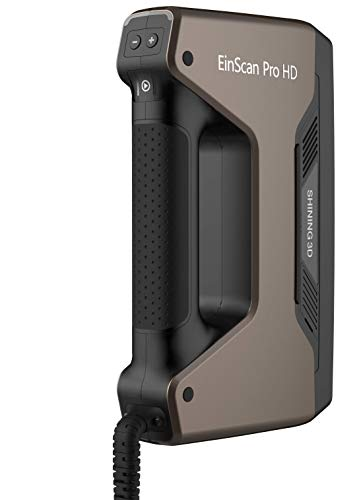 2020 EinScan Pro HD Multi-Functional Handheld 3D Scanner, 0.045mm Accuracy, 0.2mm Resolution, Solid Edge CAD Software for Reverse Engineering, Healthcare, Manufacturing, Research, Art and Design